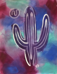 WHITE-SAGUARO-ON-STAIN-BKGD2_18X24_ACRYLIC_ONE-LINE-DRAWING_CROP_1000PX