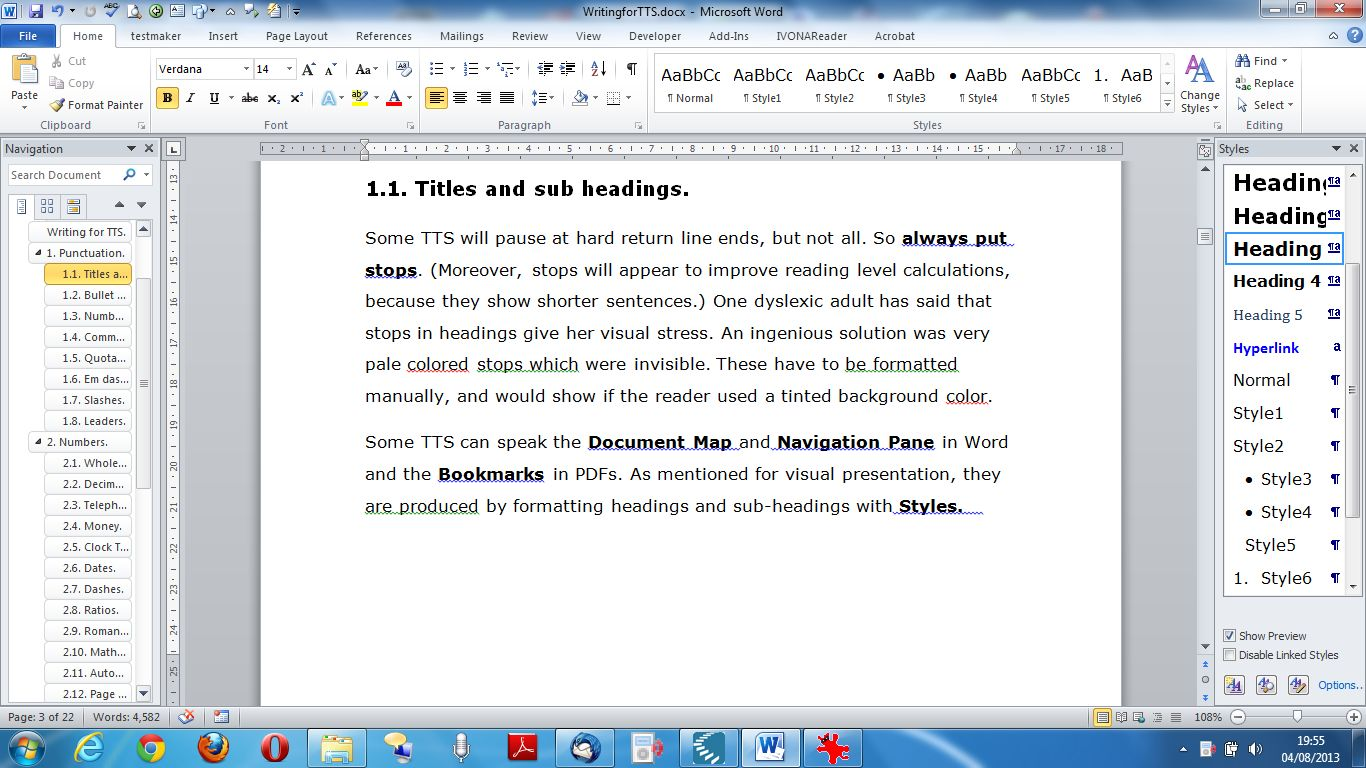 Writing For Tts