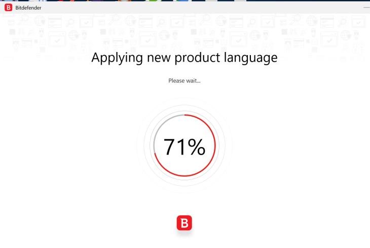 Bitdefender Downloading Language Pack