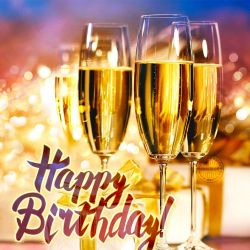 Happy Birthday Images With Wine Glasses Free Bday Cards And