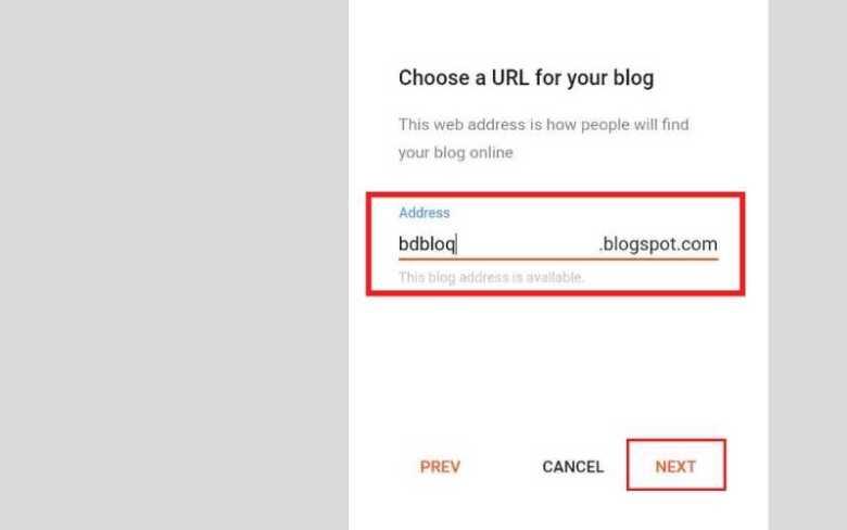 মোবাইল দিয়ে ওয়েবসাইট তৈরি করতে একটা URL যুক্ত করুন