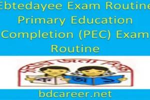 Ebtedayee Exam Routine