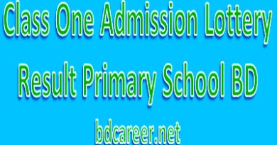 Class One Lottery Result 2021