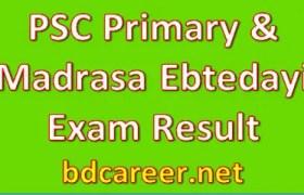 PSC Primary Madrasa Ebtedayi Exam Result