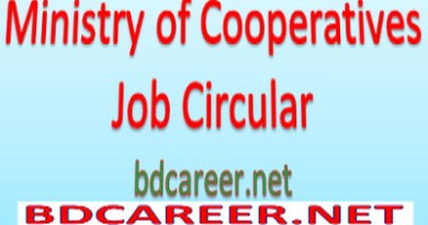 Ministry Cooperatives Job Circular 2020