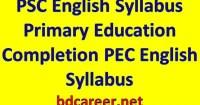 PSC English Syllabus