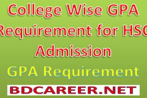 GPA Requirement HSC Admission