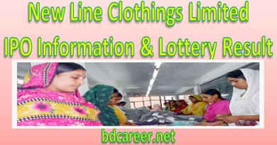 New Line Clothings Limited IPO Lottery Result