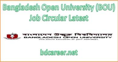 Bangladesh Open University Job Circular 2019