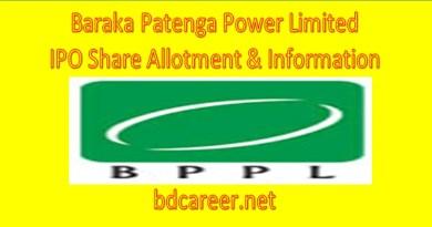 Baraka Patenga Power Limited Share Allotment List