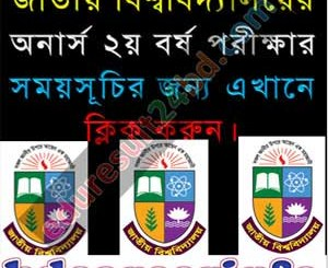 National University Honours 2nd Year Routine 2018