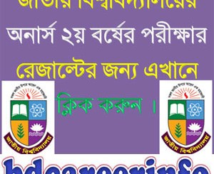 National University Honours 2nd Year Result 2018