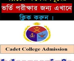 Cadet College Admission Result 2018