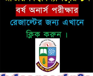 National University Honours 1st Year Result 2017