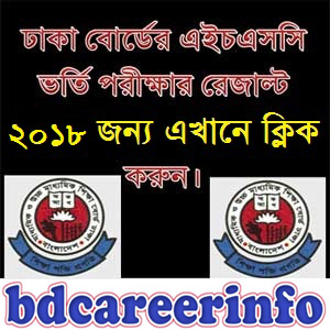 HSC Admission Result Dhaka Board 2018