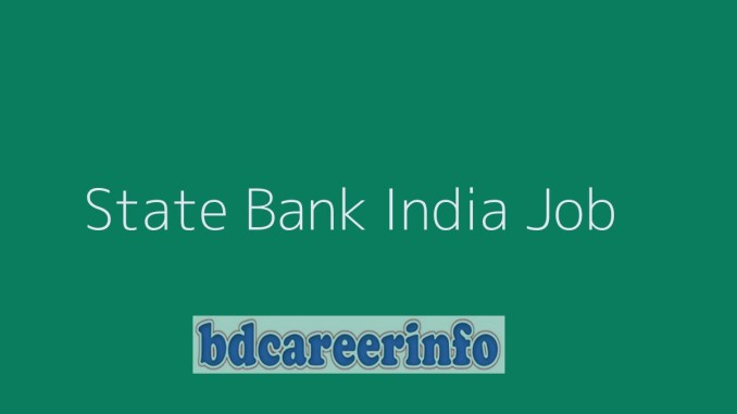 State Bank India Job Circular 2019