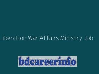 Liberation War Affairs Ministry Job 2019