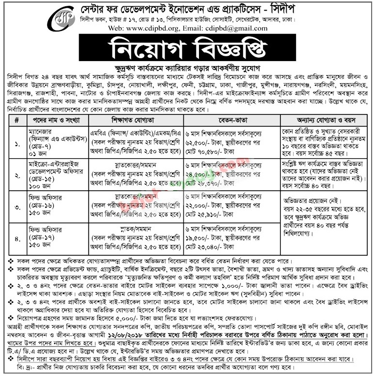 CDIP Job Circular Apply Process