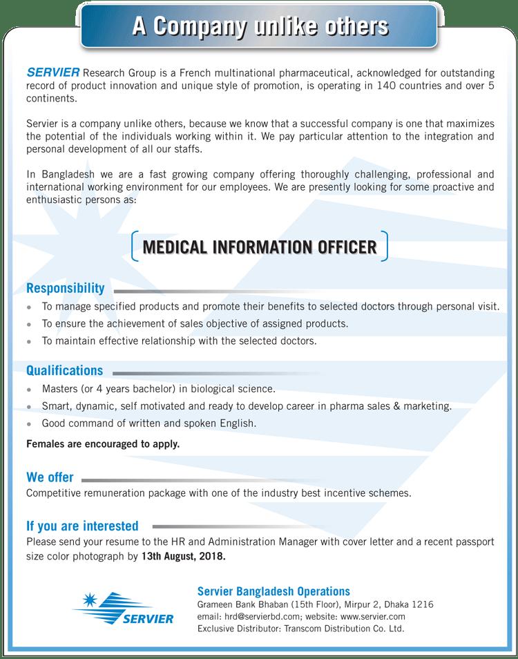 Servier Bangladesh Operations Job Circular
