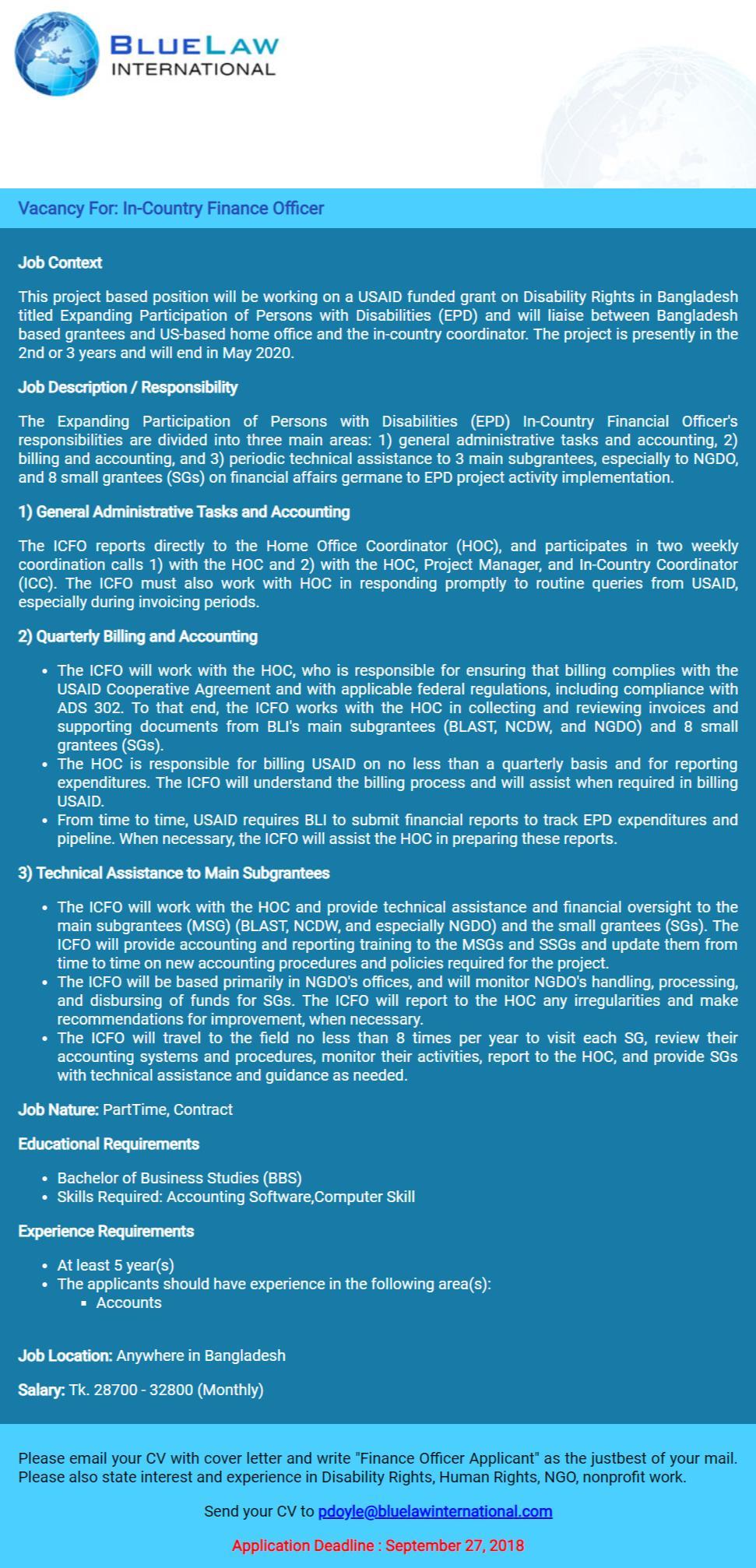 BlueLaw International LLP Job Circular