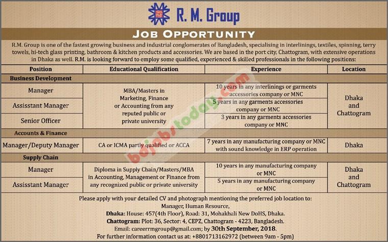 R.M. Group Job Circular