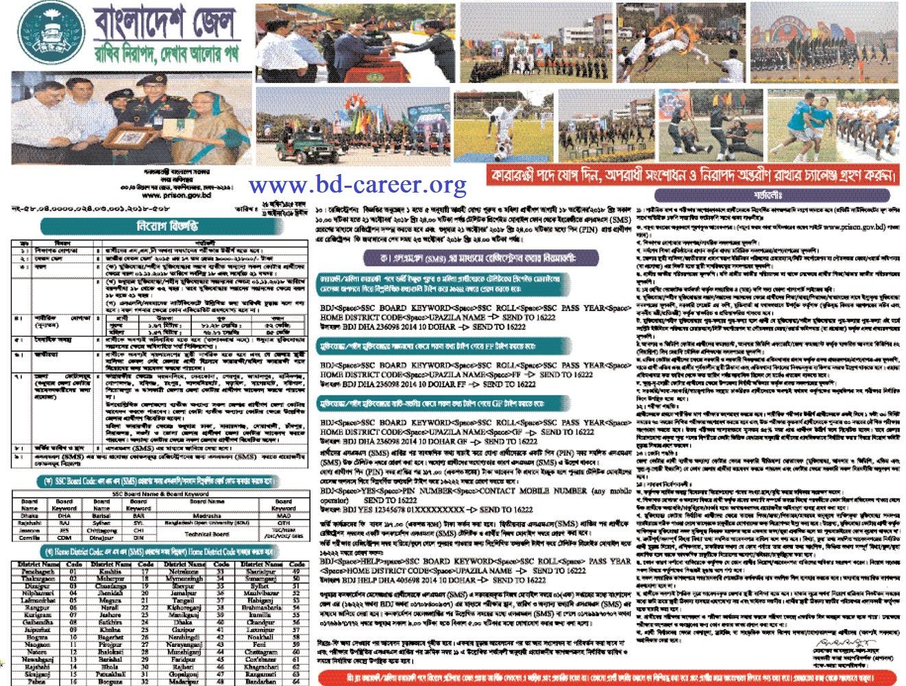 Bangladesh Jail Prison Job Circular -prison.gov.bd