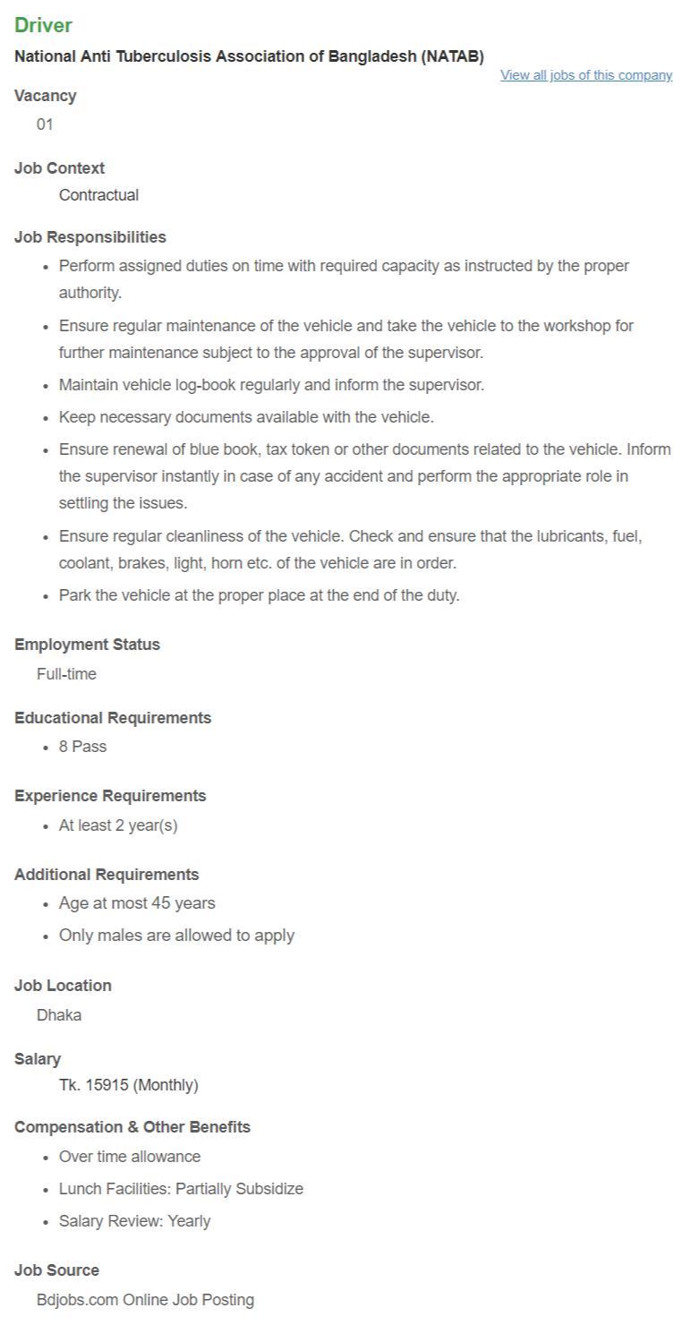 NATAB Job Circular - www.natabbd.org