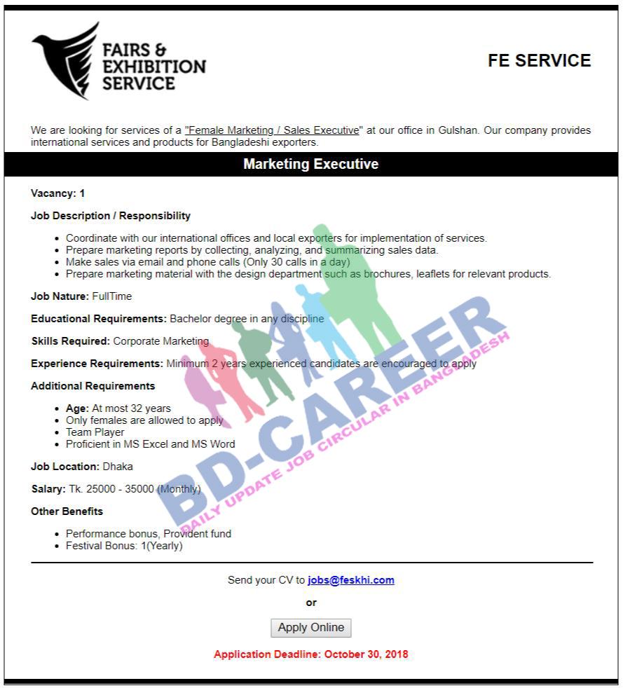See Fairs and Exhibition ServiceFES Job Circular