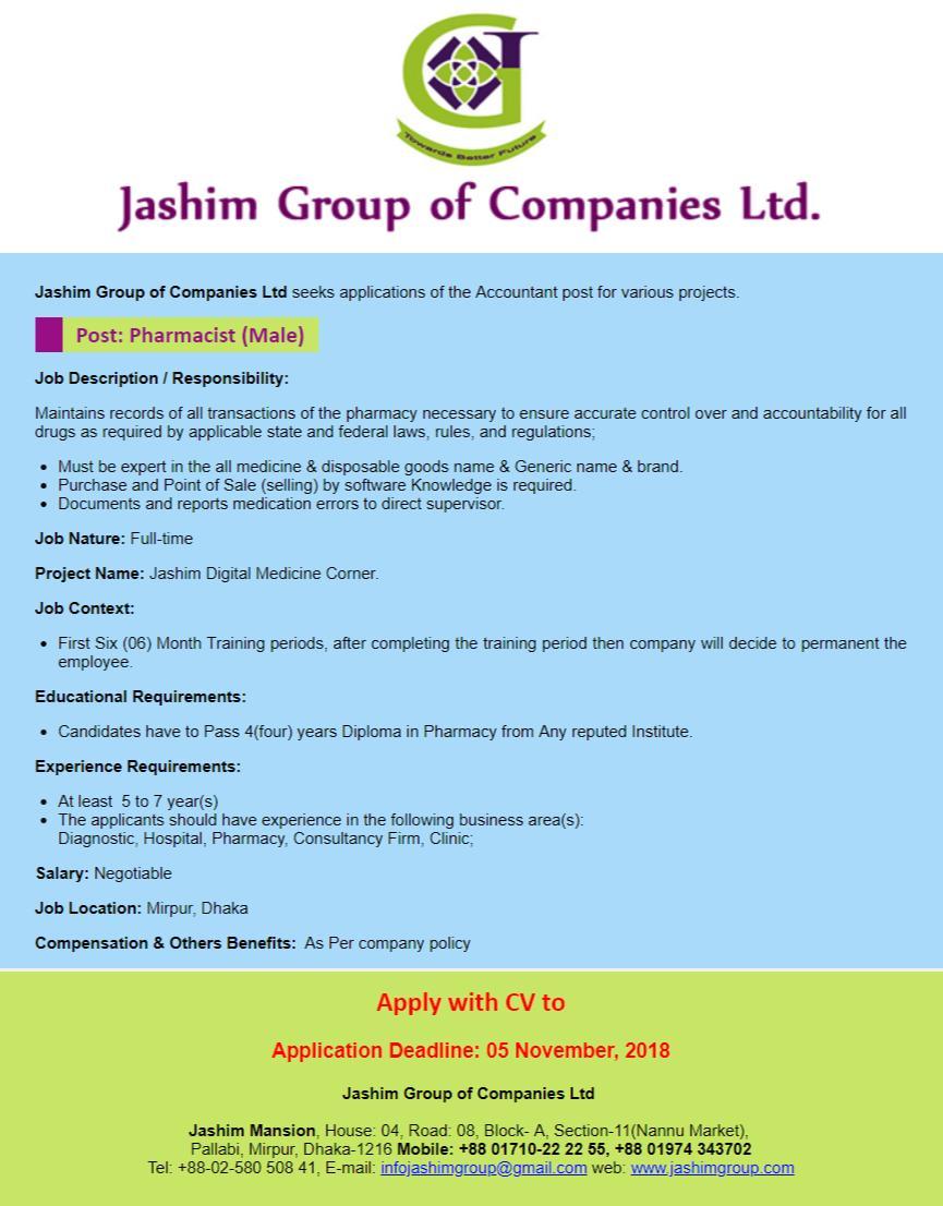 Jashim Group Job Circular