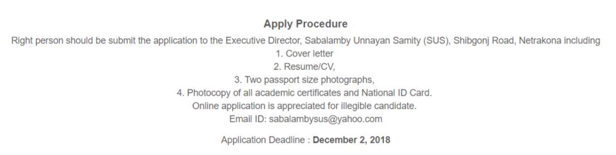 Coordinator (Micro Finance) _ Sabalamby Unnayan Samity (SUS) __ Bdjobs com (1)