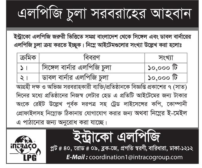 Intraco LPG Ltd Job Circular