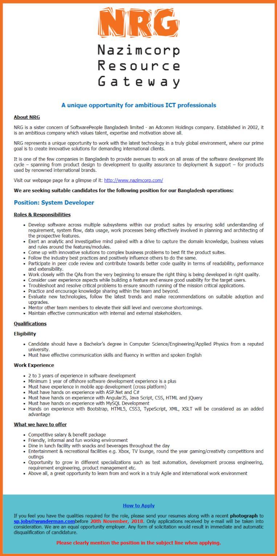 NRG Job Circular