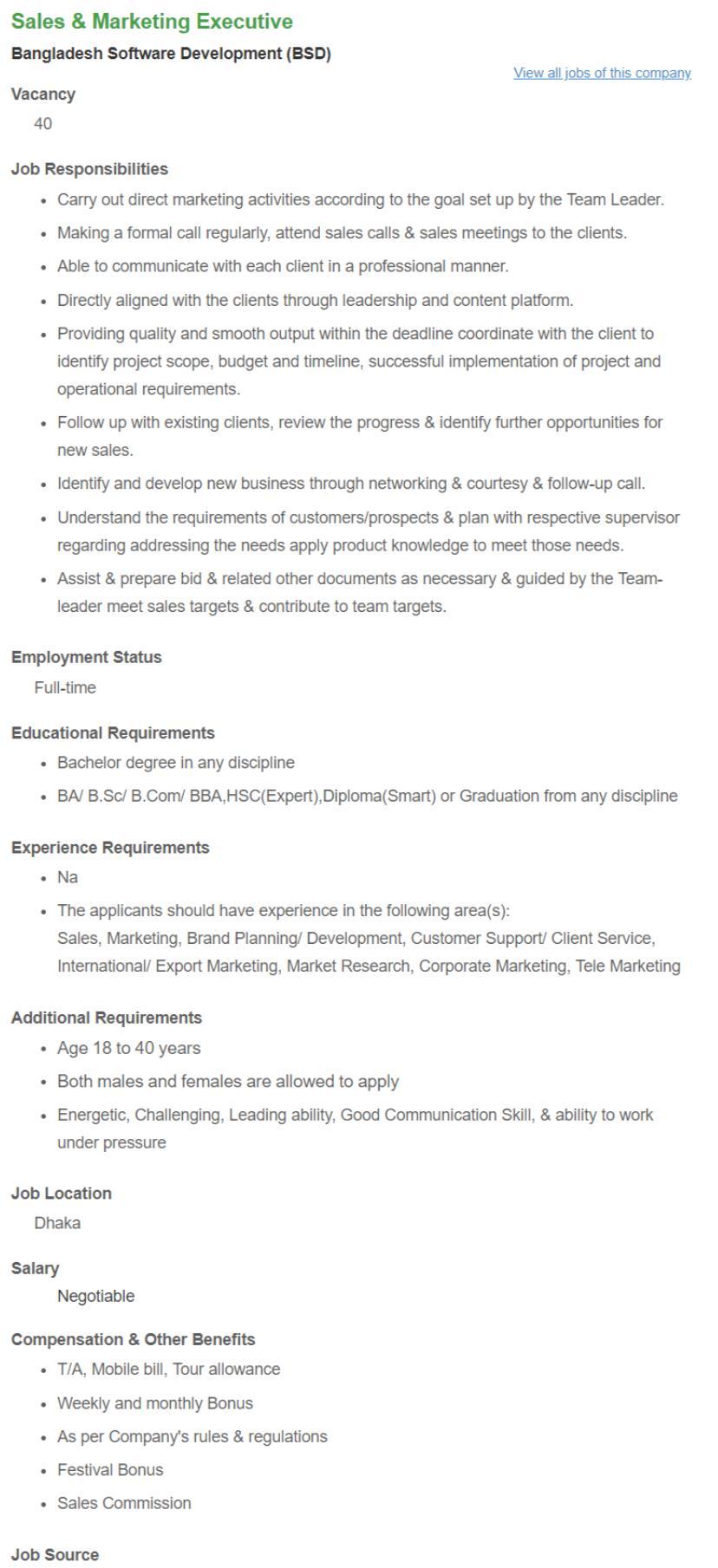 See BSD Job Circular 2018