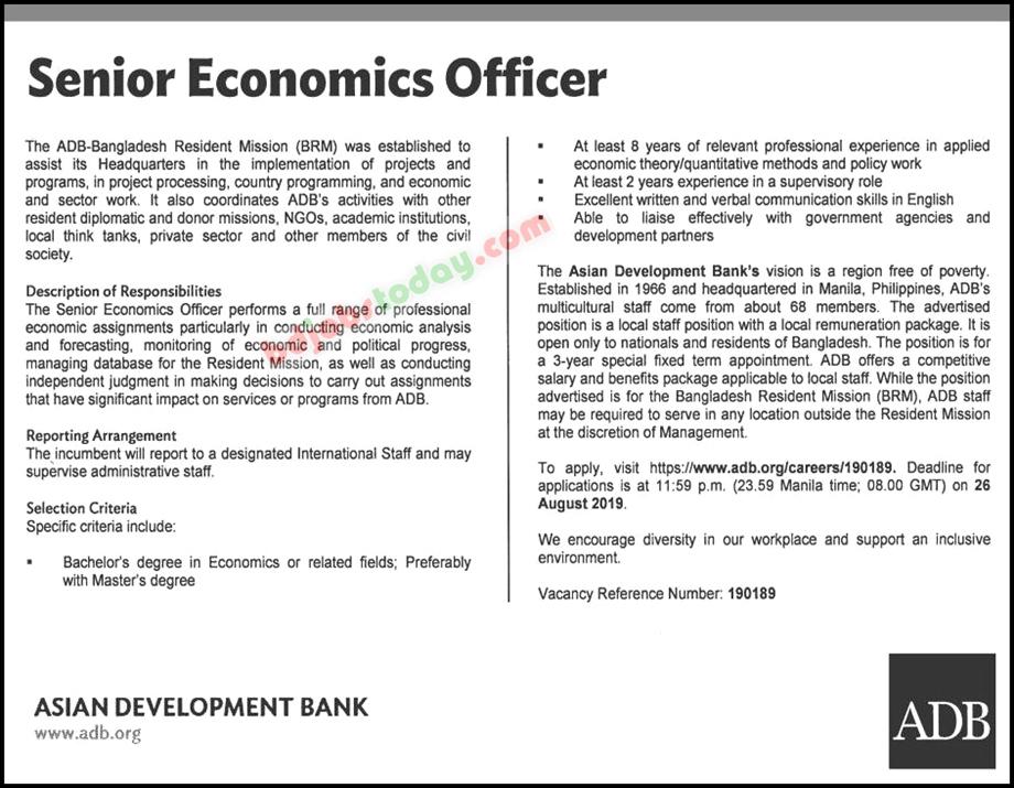 ADB Bank Job Circular Apply 2020