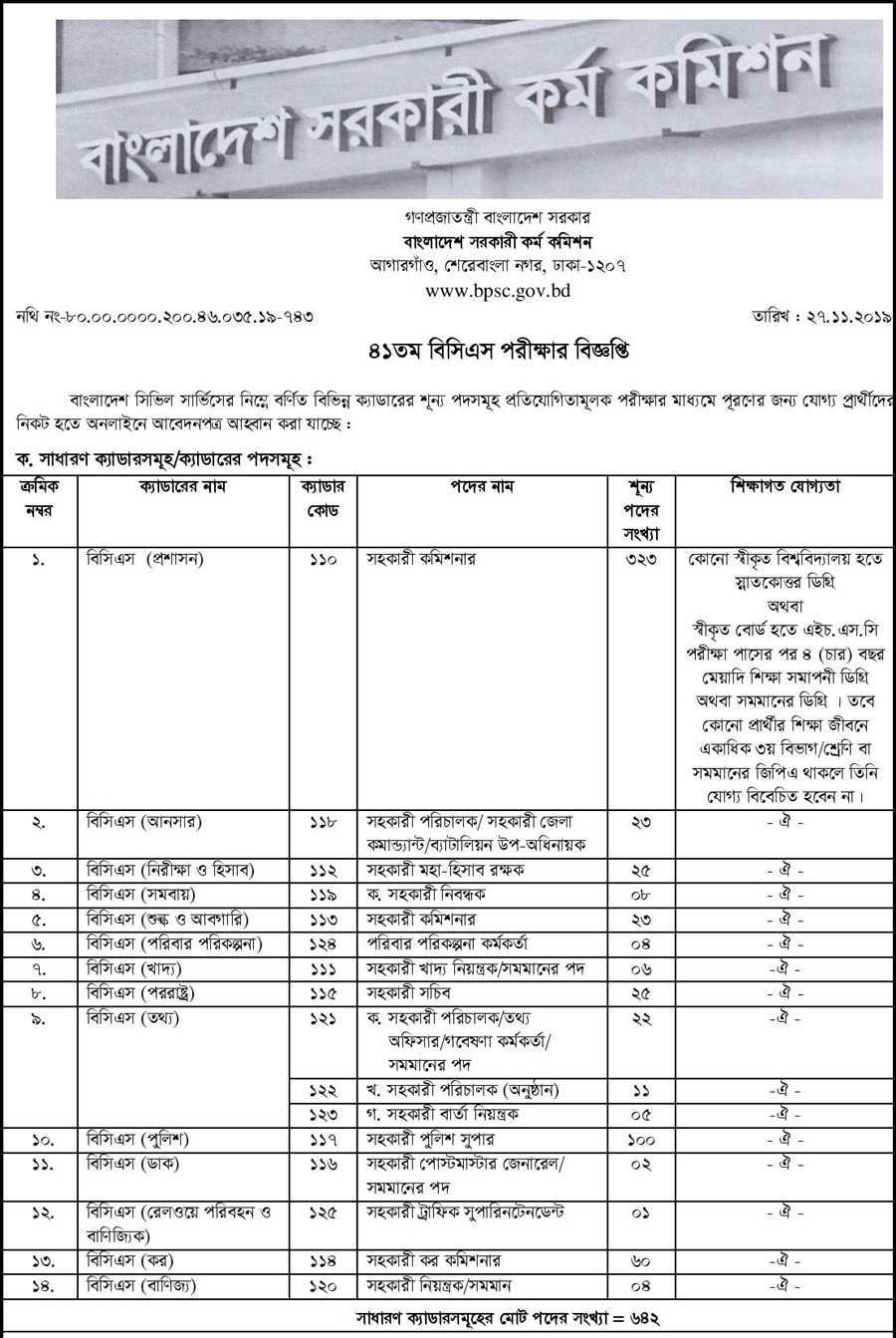 BPSC Teletalk Apply Admit Card 2019