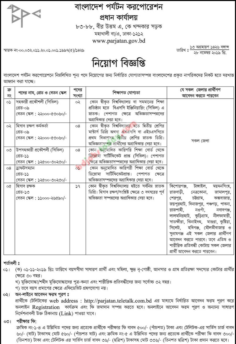 Parjatan Job Circular PARJATAN Teletalk Apply, Admit Card 2019 - parjatan.teletalk.com.bd