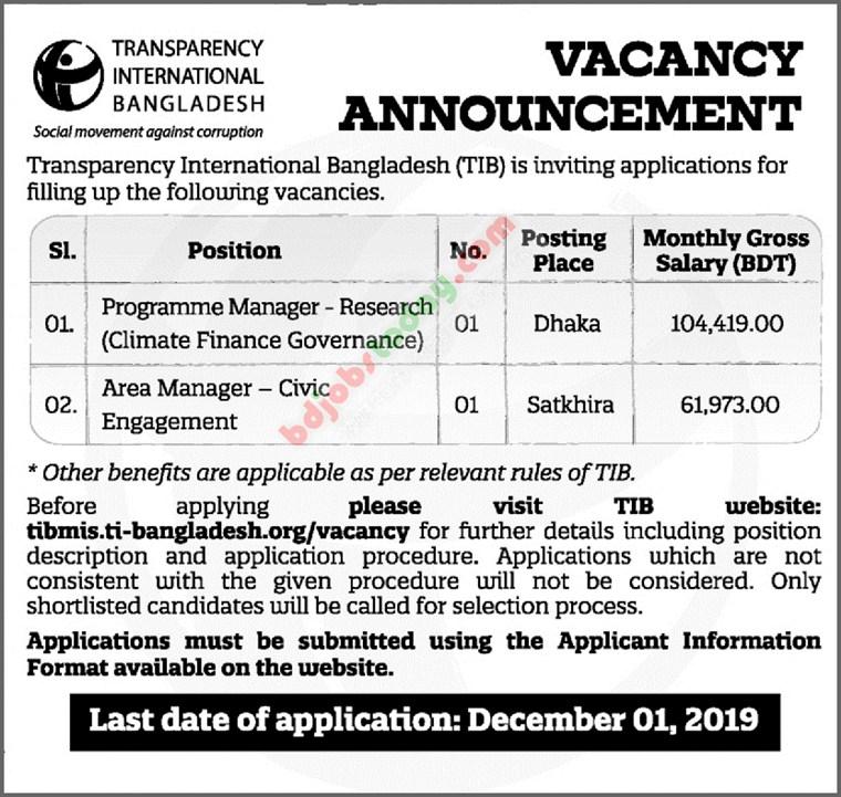 TIB job circular