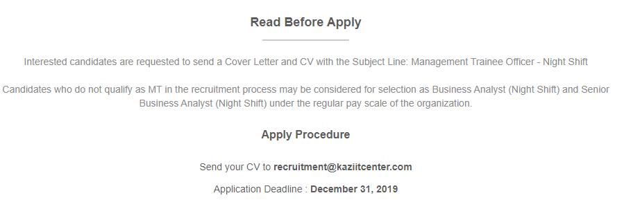Management Trainee Officer _ Kazi IT Center __ Bdjobs com (1)