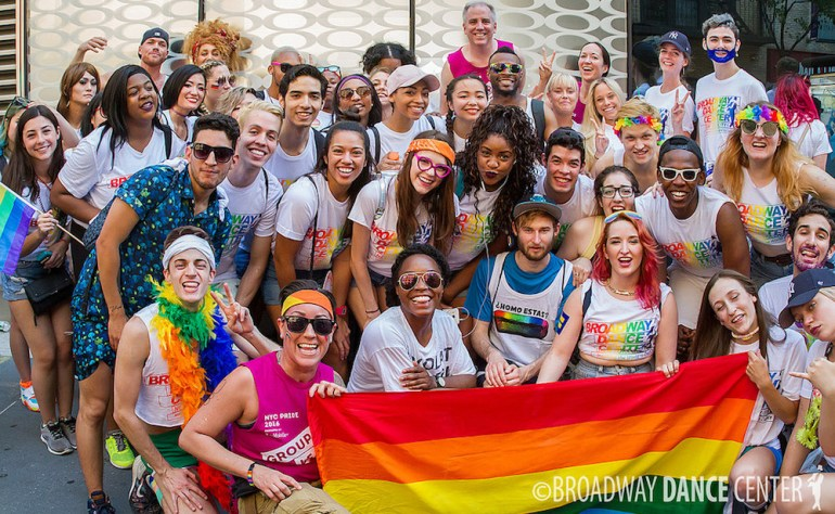 Broadway Dance Center Pride Team. Photo courtesy of BDC
