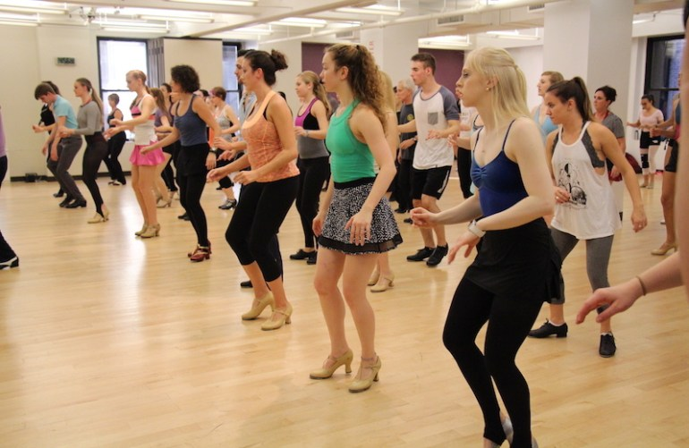 Randy Skinner's tap class at Broadway Dance Center. Photo courtesy of BDC.