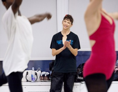 Dorit Koppel teaching ballet at BDC. Photo by Jeff Collier