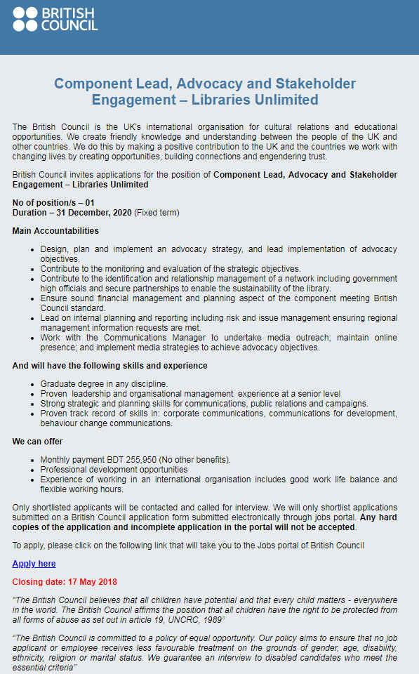 British Council Jobs
