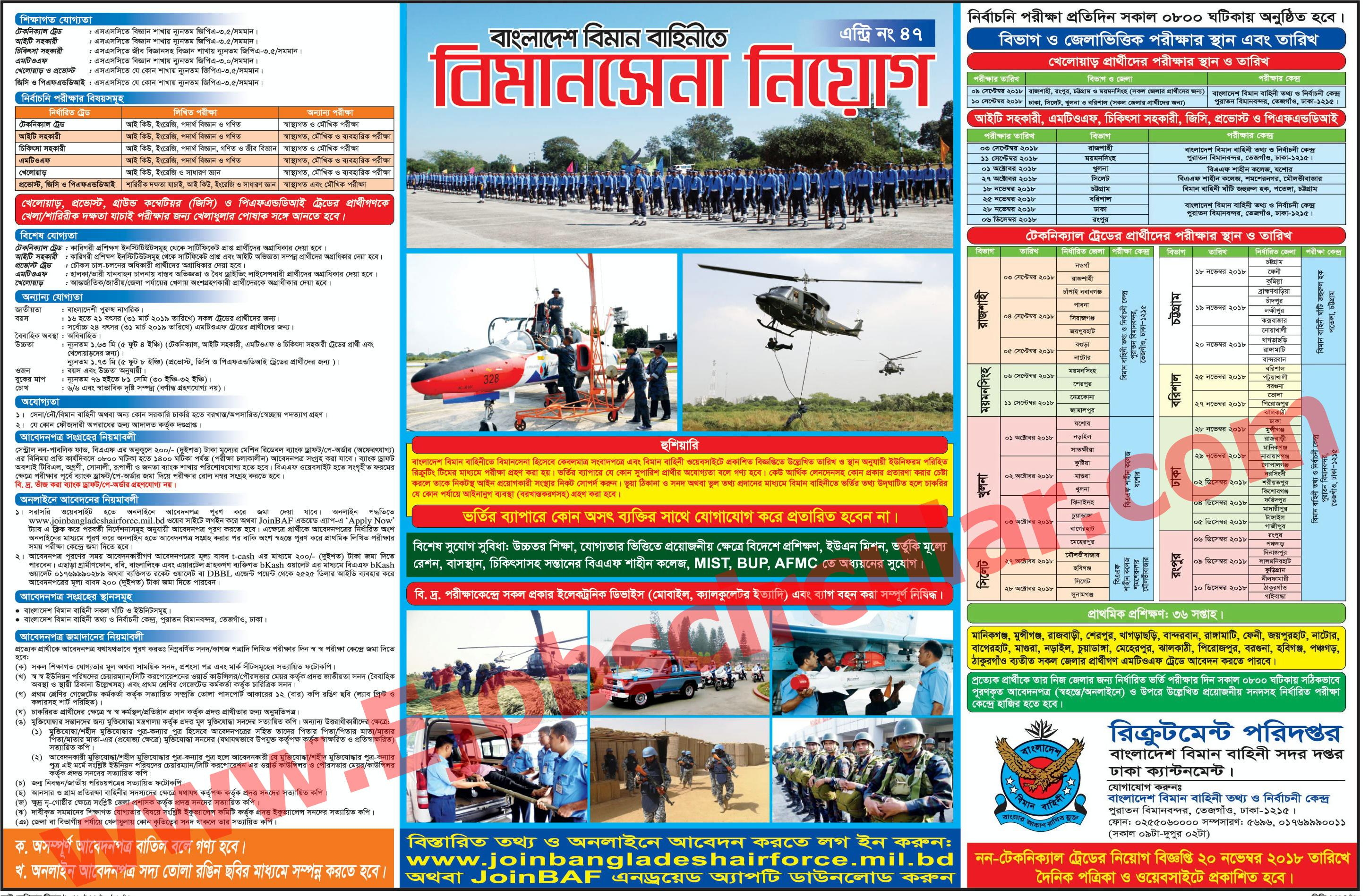 Bangladesh Air Force BAF Job Circular