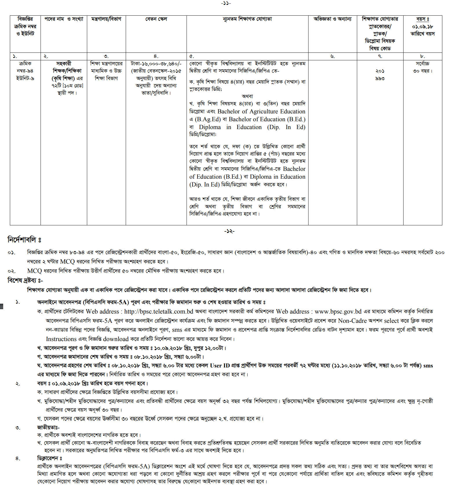 Bangladesh Public Service Commission BPSC Job Apply Online Processing at a Glance