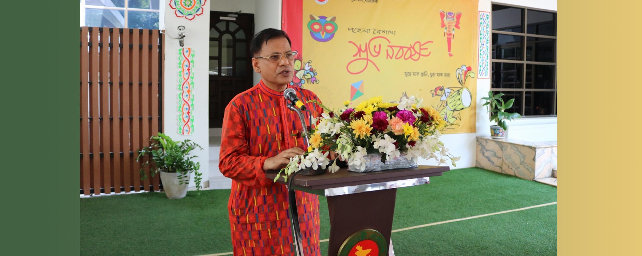 """""""Expatriate Bangladeshis in Thailand are urged to uphold secular, progressive and tolerant Bengali culture and project the positive image of Bangladesh"""", said Md. Nazmul Quaunine, Bangladesh Ambassador to Thailand and Cambodia"""
