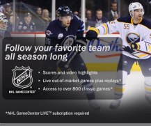 Ad for NHL GameCenter LIVE that will be served to Playstation Users