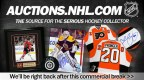 Promo spot for NHL Auctions featured in rotation during commercial breaks to all Game Center Live users.
