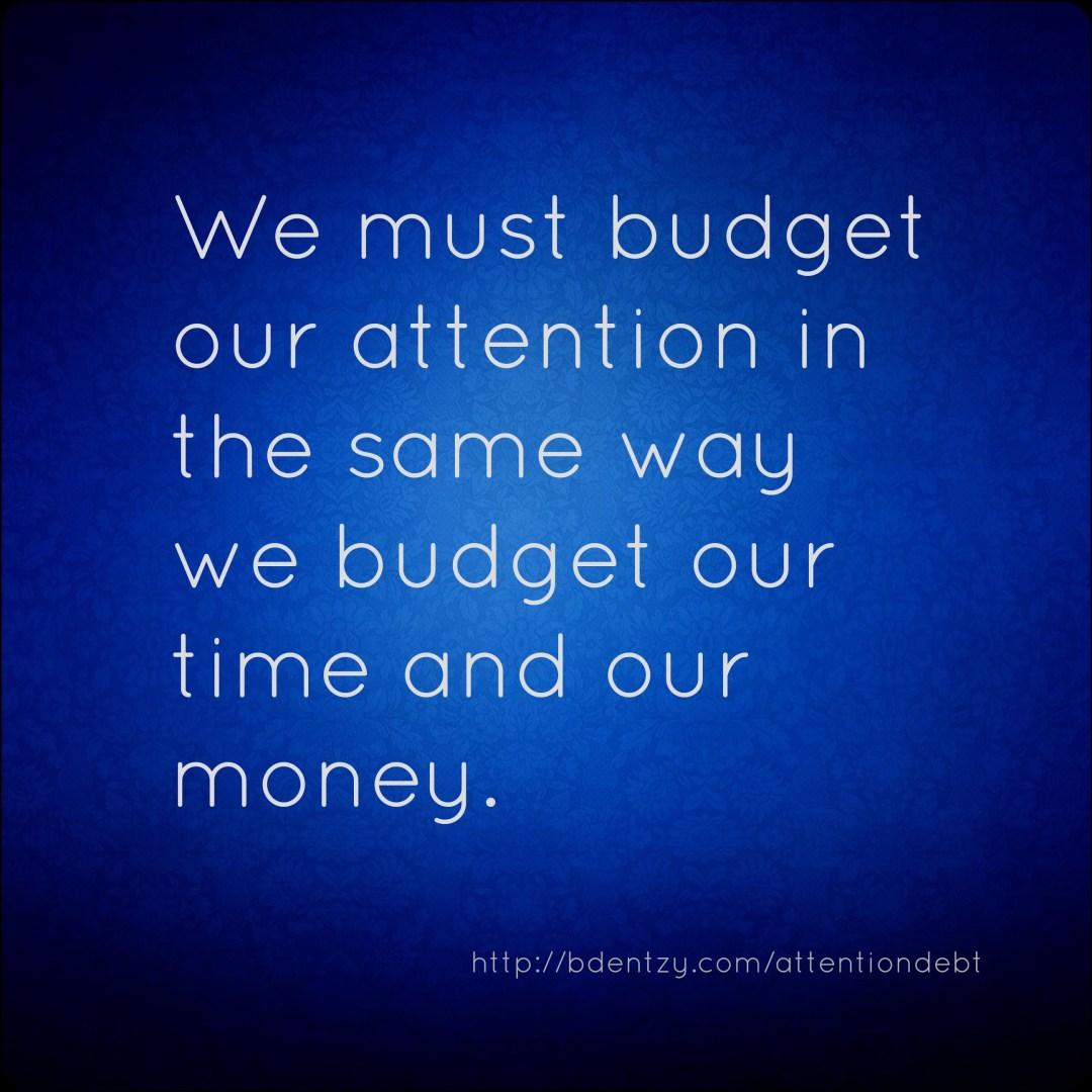 attention debt