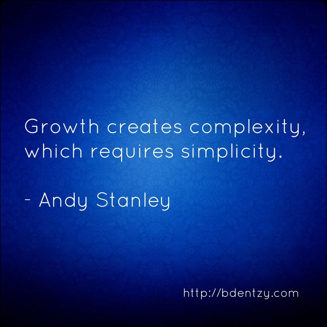 growth creates complexity