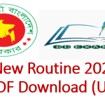 SSC New Routine 2020 All Board PDF Download (Updated)